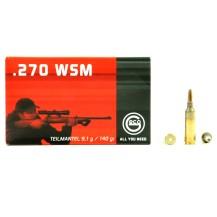 20 munitions Geco Teilmantel, calibre .270 WSM