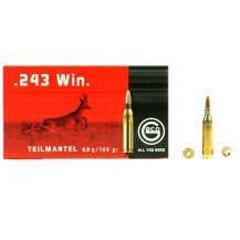 20 munitions Geco Teilmantel, calibre .243 win.