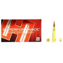 20 munitions Hornady Superformance 165 gr .308 Win