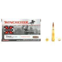 20 munitions Winchester Super X, calibre 7mm Rem Mag