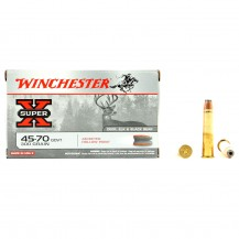 20 munitions Winchester Super X, calibre 45-70 GOVT