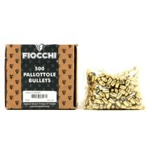 500 ogives FMJ Fiocchi 123 grains blindées 9x19 mm