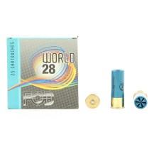 25 cartouches de ball trap FOB World 28, calibre 12/70