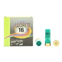 25 cartouches de ball trap FOB World 16, calibre 16/67