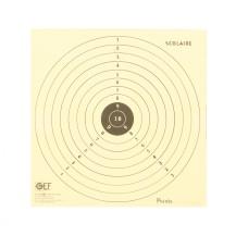 100 cibles scolaires GEF 17x17 cm