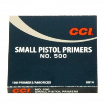 100 amorces CCI Small Pistol N°500