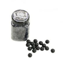 100 billes de caoutchouc Rubber-Steel Balls cal .68