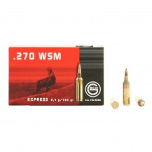 20 munitions Geco Express cal. .270 WSM 130 gr