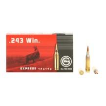 20 munitions Geco Express calibre .243 Win 76 gr