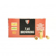 50 munitions Fiocchi 7.65 Browning 73 gr FMJ