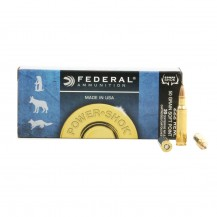 20 munitions Federal .222 Power Shok 50 grains SP
