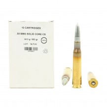 10 munitions Ruag .50 BMG 653 grains Solid Core CS