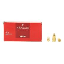 50 munitions Fiocchi FMJ 230 gr calibre .45 ACP