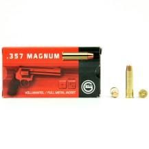 50 Munitions Geco FMJ, calibre 357 Magnum