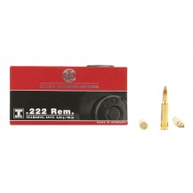 20 munitions RWS T-Mantel 50 gr, calibre .222 Rem