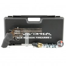 "Revolver Dan Wesson 715 6"" Grey, pack plombs diabolo"