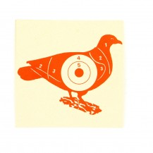 100 cibles pigeon rouge 100x100 mm