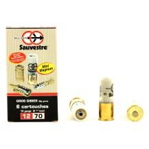 6 balles flèche Sauvestre Mini Magnum 12/70