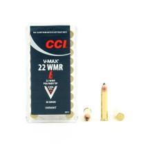 50 munitions CCI V-Max polymer tip, calibre .22 WMR