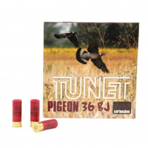 100 munitions Tunet Pigeon 36g 12/70 plomb 4 ½