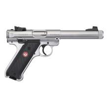 Pistolet Ruger Mark IV Target Inox fileté cal .22 LR