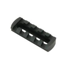 Rail picatinny à fixation ajustable 5 slots en aluminium