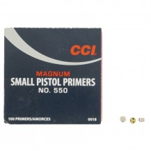 100 amorces CCI Small Pistol Magnum N°550