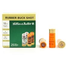 25 munitions Sellier & Bellot Rubber Buck Shot 12/67.5