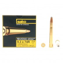 10 munitions Sako Hammerhead, calibre 9.3x74 R