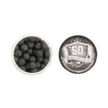 100 billes caoutchouc Steel Balls cal .50 HDR T4E