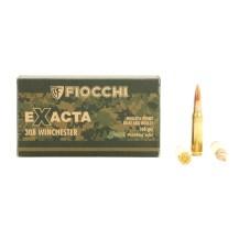 20 munitions Fiocchi Exacta HPBT, calibre .308 Win