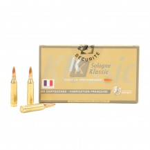 20 munitions Sologne subsonique 70 gr cal .243 Win