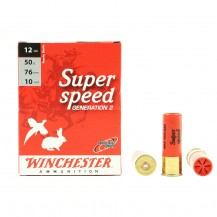 10 munitions Winchester Super Speed 50g, cal 12/76