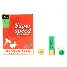 10 munitions Winchester Super Speed 32g, cal 16/70