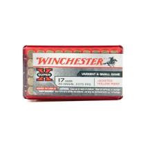 50 munitions Winchester Super-X, calibre .17 HMR
