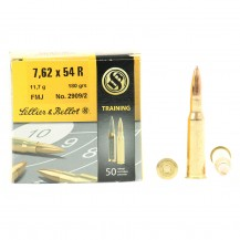 50 munitions Sellier & Bellot Training 180 grs, 7.62x54 R