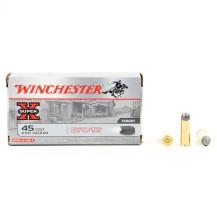 50 munitions Winchester plomb, calibre .45 Colt