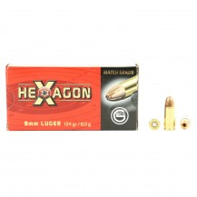 50 munitions Geco Hexagon, calibre 9x19 mm