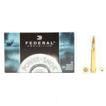 20 munitions Federal Power Shok 150 grains, calibre .30-06
