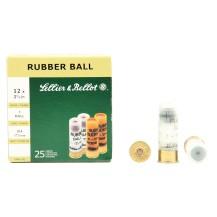 25 munitions Sellier & Bellot Rubber Ball, cal 12/67.5