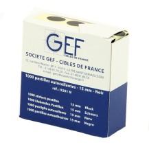 Une boîte de 1000 pastilles autocollantes Ø 15 mm