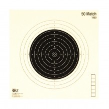 100 cibles GEF Carabine 50 m. Match 20x20 cm