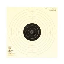 100 cibles pistolet 10m, 17x17 cm agréé ISSF
