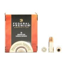 20 munitions Federal Hydra-Shok calibre 9x19 mm