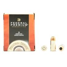 20 munitions Federal Hydra-Shok calibre .45 Auto
