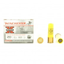5 cartouches Winchester Super X Slug, calibre 20/70
