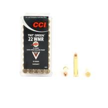 50 munitions CCI TNT Green, calibre .22 WMR
