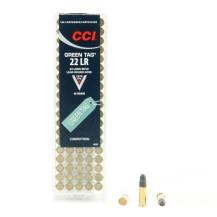 100 munitions CCI Green Tag, calibre .22 LR