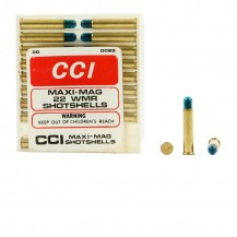 20 munitions CCI Maxi-Mag grenaille, calibre 22 WMR