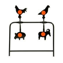Cible silhouettes métalliques basculantes Gamo 4 animaux